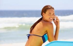 telefonini in spiaggia